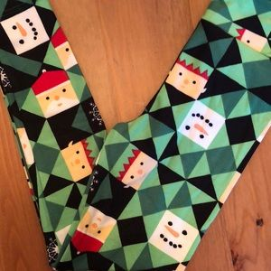 LulaRoe Kids Vintage Holiday leggings S/M